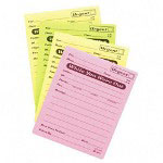 "Adams Business Forms Message Pad, While You Were Out, 4""x5"", 50 Sheets, Ast"