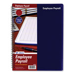 Adams Business Forms Employee Payroll Book for 20 Employees with Vinyl Cover, 112 Pages