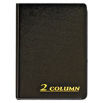 Adams Business Forms Account Book, 2 Column, Black Cover, 80 Pages, 7 x 9 1/4