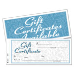 "Adams Business Forms Gift Certificates, 8 1/2""x3 4/10"""