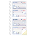 "Adams Business Forms Money/Rent Receipt Book, Spiral, Dup, 2-3/4""x5-1/4"", 200 sheet, Black"