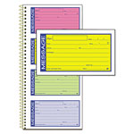 Adams Business Forms Wirebound Telephone Message Book, Two-Part Carbonless, 200 Forms