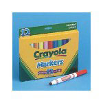 Binney and Smith Variety Pack, Broad Tip Non Washable Waterbased Markers, 12 Color Pack