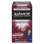 Airborne® Immune Support Chewable Tablets, Berry, 64 Count