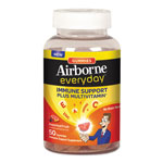 Airborne® Everyday Immune Support Plus Multivitamin Gummies, Fruity, 50/Bottle, 12/Crtn