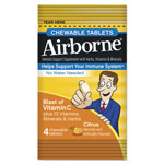 Airborne® Immune Support Chewable Tablets, Citrus, 4/Pack, 144 Pack/Carton