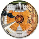 A Broader View USA Capital Puzzle-Round Table, 500 Pieces, MI