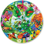 A Broader View Creepy Critters Round Table Puzzle, 500 Pieces, MI