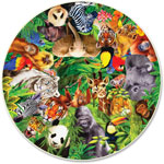 A Broader View wild Animals Round Puzzle, 500 Pieces, MI