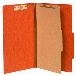 Acco 20 Point Classification Folders, Legal, 4 Section, Red, 10/Box