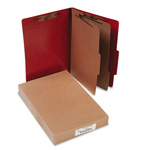 Acco 20 Point Classification Folders, Legal, 6 Section, Red, 10/Box
