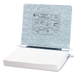 Acco Pressboard Hanging Data Binder for 11 x 8 1/2 Unburst Sheets, Light Gray