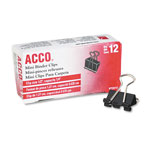 "Acco Binder Clips, 1/4"" Capacity, 1/2"" Wide"