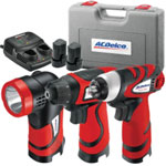 AC Delco Lithium-Ion 8V 3-In-1 Combo Kit