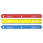 "Westcott® Plastic Ruler, 12"" Long, Assorted Colors"