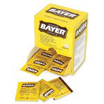 Bayer 2 Tablets per Pack, 50 Packs per Box