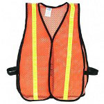 Acme Deluxe Lighweight Safety Vest with Reflective Stipes, Orange, One Size Fits All
