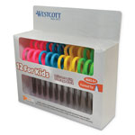 Acme Westcott® Kids Antimicrobial Scissors Teachers Pack, 12/pk Plastic Handle - Pointed