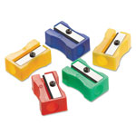Westcott® One-Hole Manual Pencil Sharpeners, 4w x 2d x 1h, Red/Blue/Green/Yellow, 24/Pack