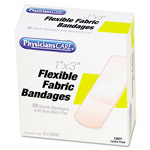 "Physicians Care First Aid Fabric Bandages, 1"" x 3"", 50/Box"