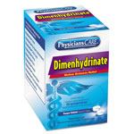 Physicians Care Dimenhydrinate (Motion Sickness) Tablets, 2/Pack, 50 Pack/Box