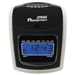 Acroprint Time Recorder Atr480 Time Clock Bundle, Lcd, Automatic, White/charcoal