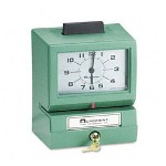 Acroprint Time Recorder 011070400 Model 125 Analog Manual Print Time Clock With Date/0-12 Hours/Minutes