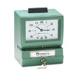 Acroprint Time Recorder 01107040A Model 125 Analog Manual Print Time Clock With Date/0-23 Hours/Minutes