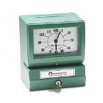 Acroprint Time Recorder 012070411 Model 150 Analog Automatic Print Time Clock With Month/Date/1-12 Hours/Minutes