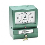 Acroprint Time Recorder 012070413 Model 150 Analog Automatic Print Time Clock With Month/Date/0-23 Hours/Minutes