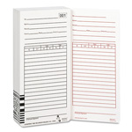 Acroprint Time Recorder Time Cards for ES1000 Electronic Totalizing Payroll Recorder, 100 Per Pack