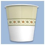 Dixie 45SCDX Sage Flush Bottom Wax Treated Cold Paper Cups, 3 Ounce