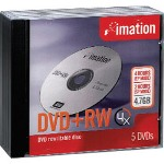 Imation 5 x DVD+RW - 4.7 GB 4X - Jewel Case - Storage Media
