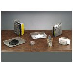 Rolodex Wire Mesh Self Stacking Side Load Legal Tray, Pewter