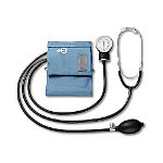 A&D Medical Ua-100 Home Blood Pressure Kit with Attached Stethoscope