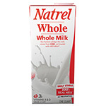 Natrel Milk, Whole Milk, 32 oz Resealable Bottle, 12/Carton