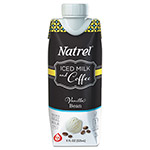 Natrel Indulgent Milk Coffee Drinks, Vanilla Bean Coffee, 11oz Prisma Bottle,12/Carton
