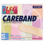"ASO Bandage Patches, 3/4""x3 Strips, Adhesive, Sheer, 100/BX"