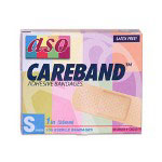 "ASO Bandage Patches, 1""x3"" Strips, Adhesive, Sheer, 100/BX"
