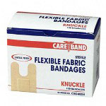 ASO Knuckle Bandages, Ventilation Holes, Fabric, Adhesive, 100/BX