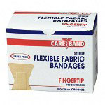 ASO Fingertip Bandages, Ventilation Holes, Fabric, Adhesive, 100/BX