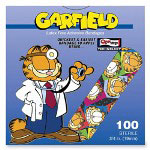 "ASO Bandages, Garfield Design, Adhesive, 3/4"" Strips, 100/BX"