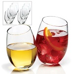 Anchor Hocking 8 pc. Stemless Wine Glass Set