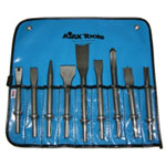 Ajax Tool Works Pneumatic Bit Set, Chisels, 9 Piece, With A905, A906, A907, A908, A909, A910, A911, A912 and A932