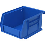 "Akro-Mills Akrobin, Unbreakable/Waterproof, 4 1/8""x5 3/8""x3"", Blue"