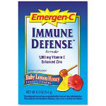 Emergen-C® Immune Defense Drink Mix, Ruby Lemon Honey , Single Pack, Pack of 30