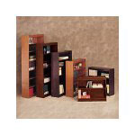 "Alera Traditional Square Corner Veneer Bookcase, Seven Shelf, 84"" High, Medium Oak"