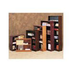 "Alera Radius Corner Wood Veneer Bookcase, Two Shelf, 30"" High, Medium Oak"