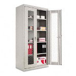 "Alera Assembled Storage Cabinet with See-Thru Doors, 40""x19""x80"", Gray"