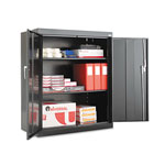 "Alera Assembled Storage Cabinet, 42""-High, 36"" x 18"", Black"